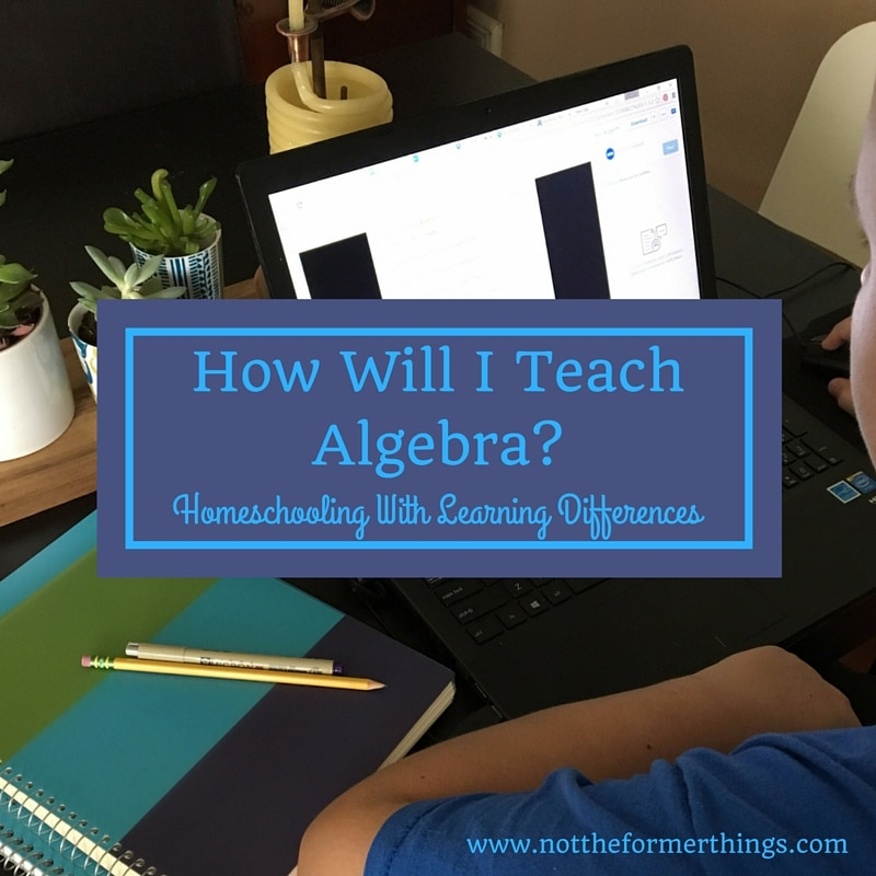 How Will I Teach Algebra? Homeschooling with Learning Differences ...