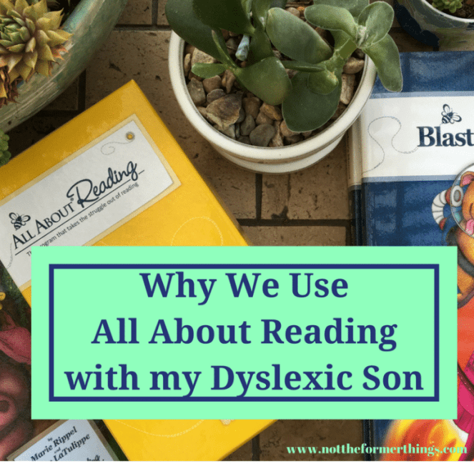 Why We Use All About Reading with my Dyslexic Son