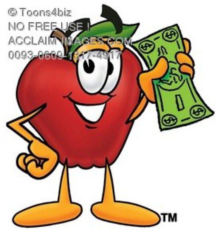 0093-0609-1317-4917_apple_cartoon_character_holding_cash