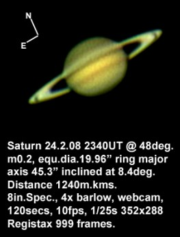 Saturn 24 February 2008 (by Bryan Lilley)