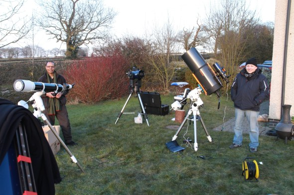 Richard's SkyWatcher, Meade and Andrei's Celestron