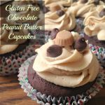 Gluten Free Chocolate Peanut Butter Cupcakes