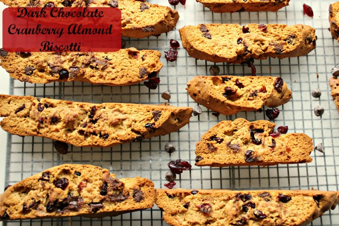 Dark Chocolate Cranberry almond biscotti CV