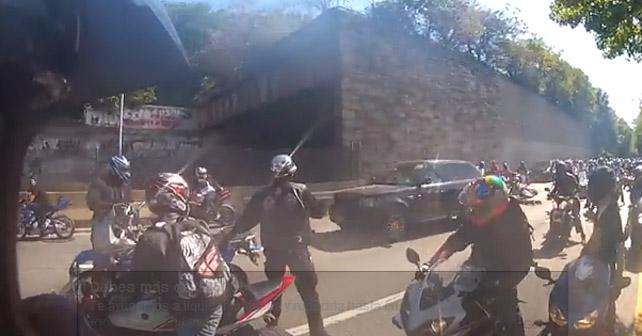 persecucion en moto