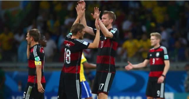 Alemania humilla a Brasil en su casa, en su mundial, lo deja fuera. Alemania 7 - Brasil 1