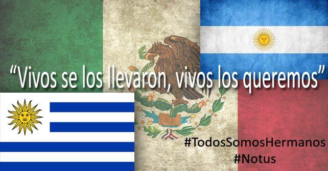 Uruguayos y argentinos de unen en manifestaciones a favor de encontrar a los 43 normalistas Gráfico Notus