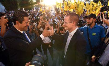 En campaña junto a Anaya candidato a la presidencia de México.