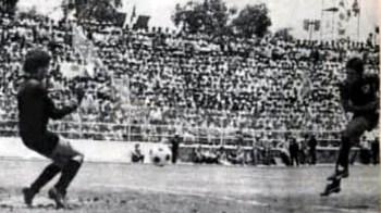 Uno de los goles en la final del Irapuato en el ascenso