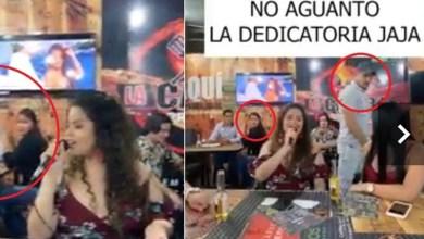 Photo of Mujer encuentra a su ex con su nueva novia y le dedica una canción en karaoke