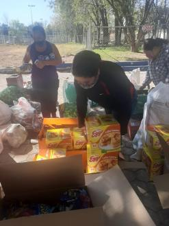 Pie de foto: el trabajo altruista y humano dado por los irapuatenses. Foto cortesía
