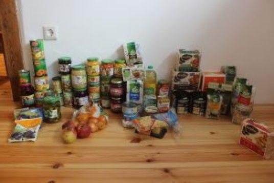 Einkauf des staatlich empfohlenen Notvorrats als Beispiel
