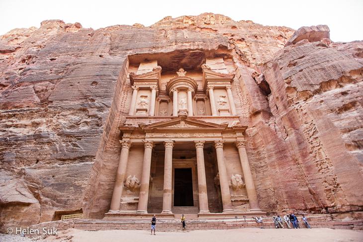 petra jordan, treasury, al-khazneh