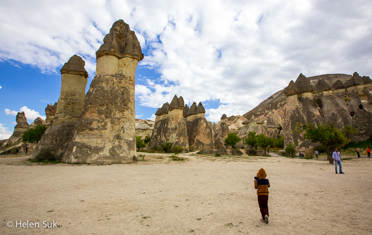 fairy chimneys in monks valley cappadocia