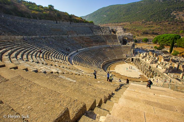 great theatre in ephesus turkey