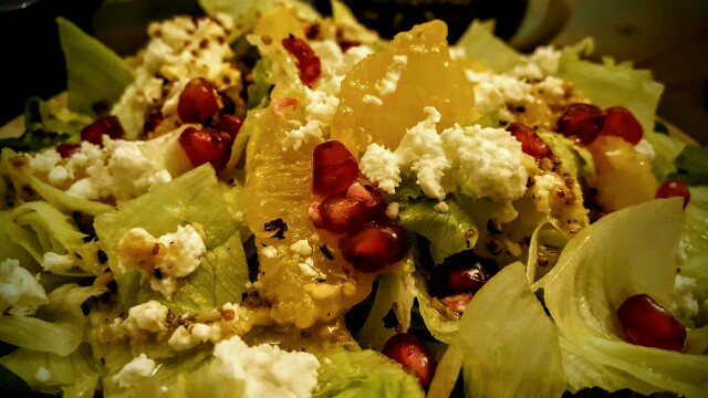Fresh, limey and sweet the salad comes topped with my favourite: feta