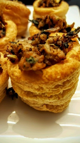 Fresh and herbilicious: chicken stuffed vol-au-vent
