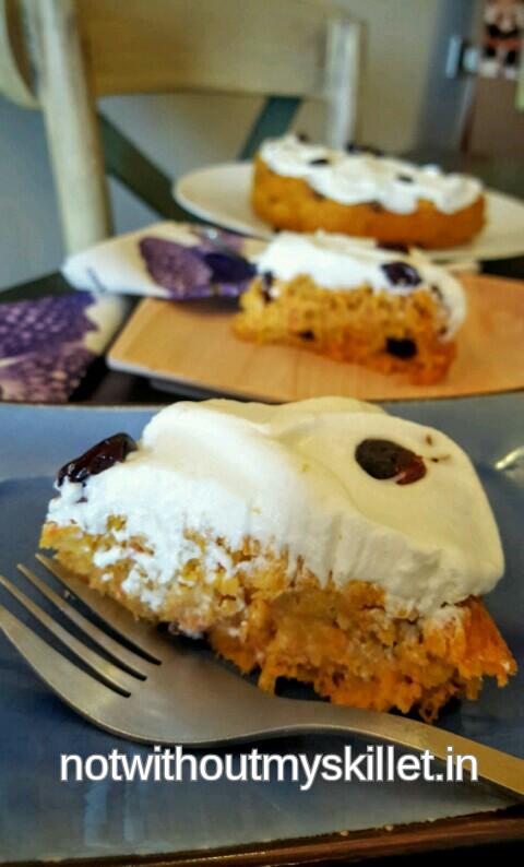 Sugar-free, Gluten-free oats, Carrot, Pumpkin Cake