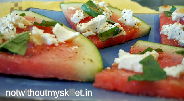 If you wish you can sprinkle a bit of black pepper on the watermelon too!