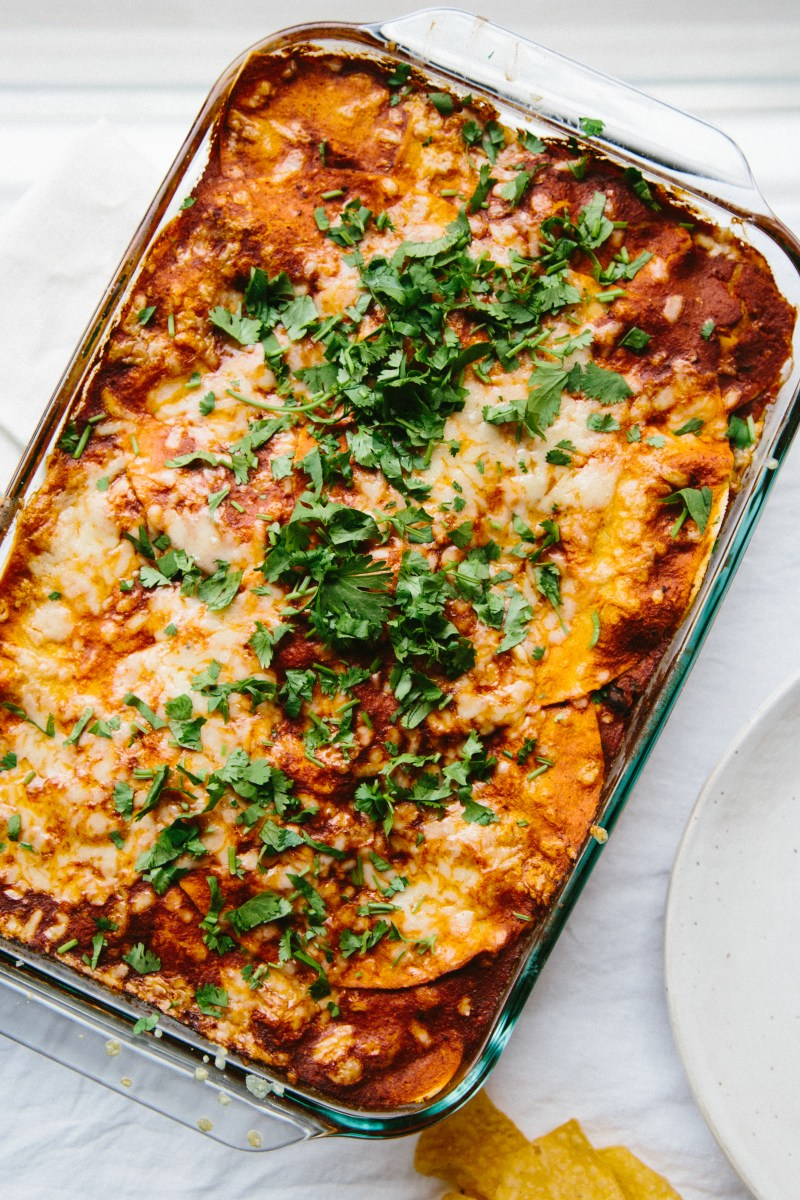 Enchilada Pie // Notwithoutsalt.com