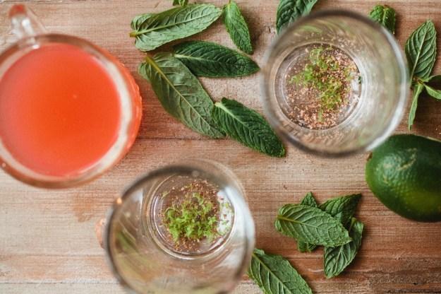 Rhubarb mojito + a giveaway