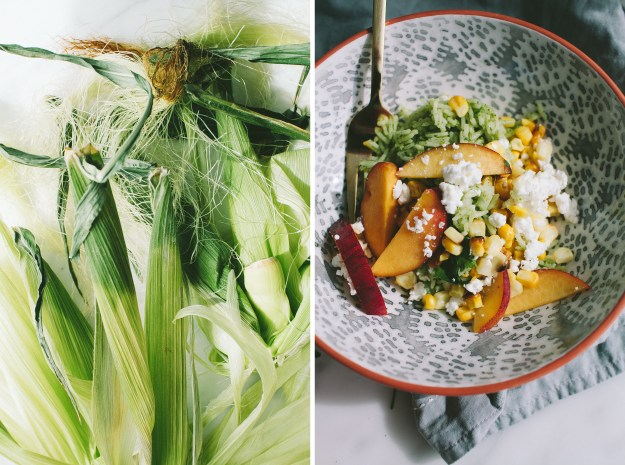 Green Rice Salad with Nectarine and Corn // Not Without Salt