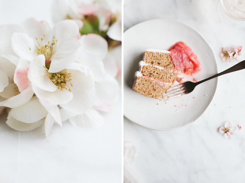 Almond Cake with Rhubarb // NotWithoutSalt.com