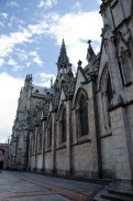 The outside stonework including the groteques, all in the images of animals from Ecuador.