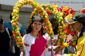 The flower hoops served to frame their gorgeous faces.