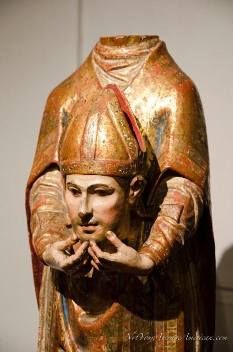 One of many statues found at the Casa de la Cultura museum.
