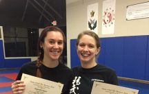 With my very talented training partner and friend at the 2nd seminar (cropped short to hide her name on her certificate)