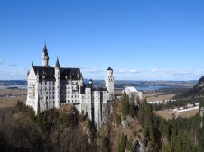 """Neuschwanstein Castle, built by the """"Mad King"""" in 1869. The Disneyland castle is inspired by this beauty."""
