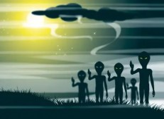drawing of alien figures