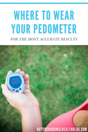 Woman looking at pedometer saying 15,000 steps