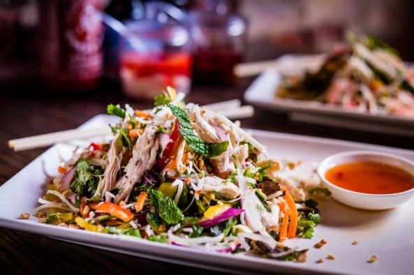 219 calories of shredded chicken salad. Yum.