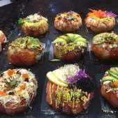 Buy a sushi donut at Sydney Fish Market