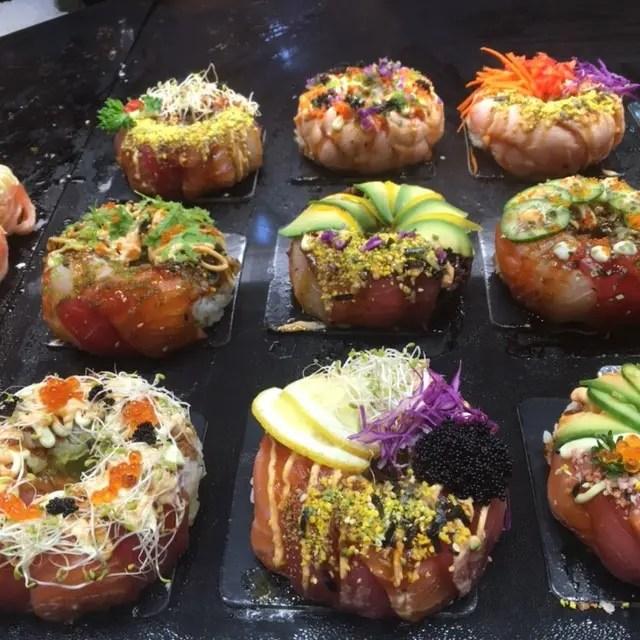 Buy a sushi donut at Sydney Fish Market