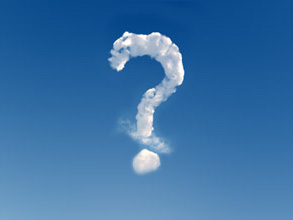 Cloud question mark