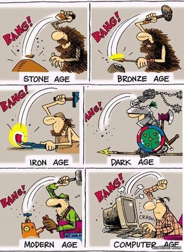 From stone age to computer age