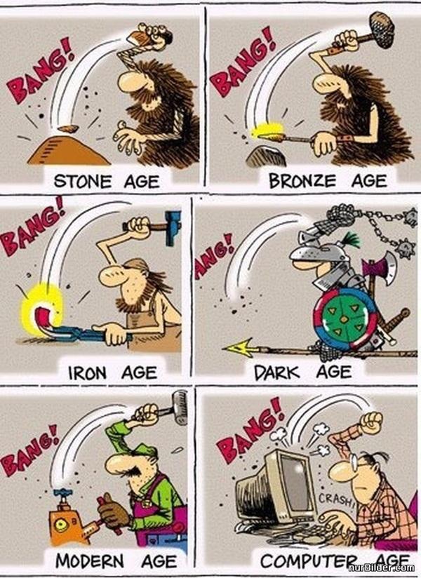 De l'âge de pierre à l'âge de l'informatique