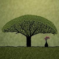 Big tree covering small tree