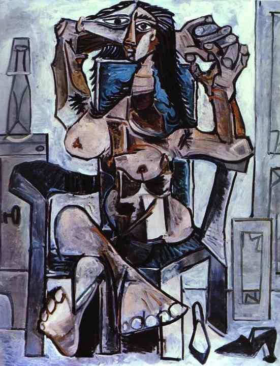 Picasso - Nu fauteuil