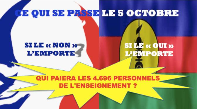 POUR L'INSTANT, LE PERSONNEL DE L'ENSEIGNEMENT SECONDAIRE EST RÉMUNÉRÉ PAR LA FRANCE
