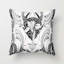 #illustration#home ##THROW #PILLOWS #decor#TEES#pillow#textiles#Prints#drawing #Noumeda #Carbone