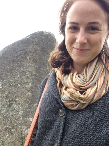 This is me trying to take a casual selfie with a megalith and failing because I am so excited.