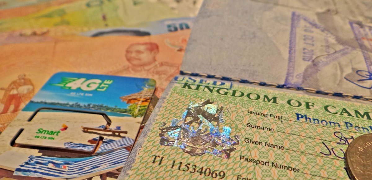 arriving in cambodia customs visas sim cards and