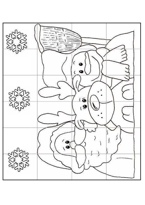Gabarit Calendrier De LAvent Puzzle N2