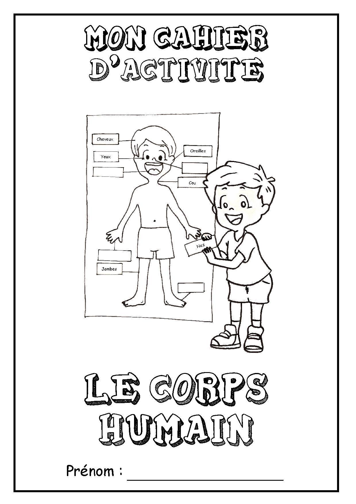 Page De Garde Cahier D Activites Le Corps Humain