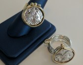Authentic Roman silver coin handmade rings