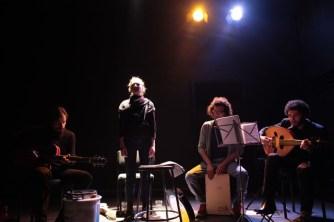 Raast, from left to right, Joao Smart (guitar), Emily Churchill Zaraa (vocals), Basel Zaraa (percussion) and Kareem Samara (oud)