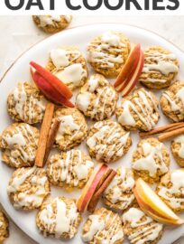 These apple cinnamon cookies are delicious any time of year and truly perfect to bake in the fall! Quick and easy to make, soft and cake-like, drizzled with maple glaze for an irresistible finishing touch.